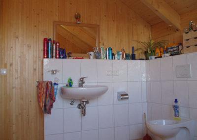 Holzwand in Badezimmern für Privat, Holzbau Zimmerei Reichart