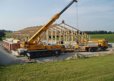 Baustelle für Stallungen für den Landwirtschaft