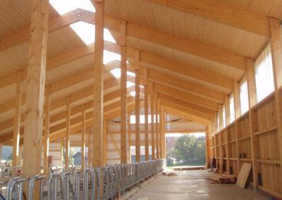Bau eines Stalles von Holzbau Zimmerei Reichart