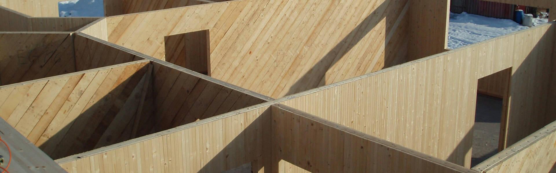 Baustelle bei Holzbau Reichart in Marktoberdorf im Allgäu