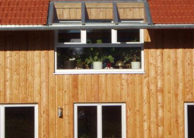 angebrachte Holzfassade von Holzbau Zimmerei Reichart