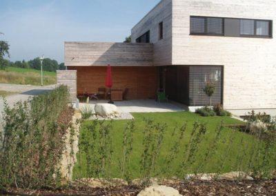 Holzfassade von Holzbau Zimmerei Reichart