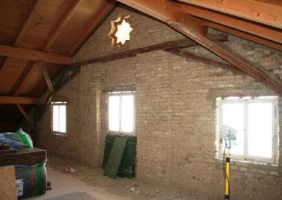 vor der Innenraumsanierung von Holzbau Zimmerei Reichart