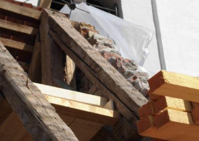 Baustelle für eine Sanierung